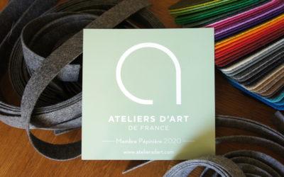 LA DRÔMOISE CLARA LAUBIÈS LABELLISÉE «ATELIERS D'ART DE FRANCE»